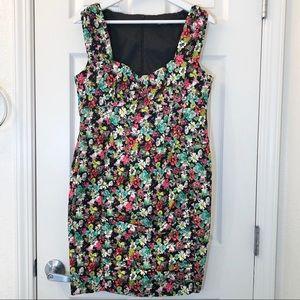 Nanette Lepore Floral Ruched Sheath Dress